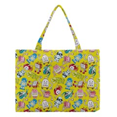 Robot Cartoons Medium Tote Bag by Jojostore
