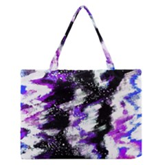 Abstract Canvas Acrylic Digital Design Medium Zipper Tote Bag by Amaryn4rt