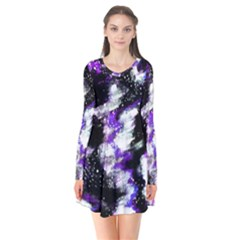Abstract Canvas Acrylic Digital Design Flare Dress
