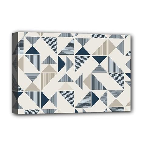 Geometric Triangle Modern Mosaic Deluxe Canvas 18  X 12   by Amaryn4rt