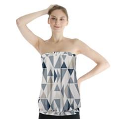 Geometric Triangle Modern Mosaic Strapless Top by Amaryn4rt