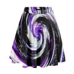 Canvas Acrylic Digital Design High Waist Skirt by Amaryn4rt