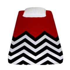 Chevron Red Fitted Sheet (single Size)