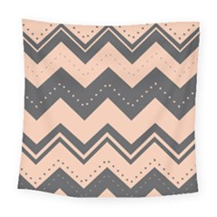 Chevron Ideas Gray Colors Combination Square Tapestry (large)