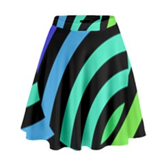 Colorful Roulette Ball High Waist Skirt by Jojostore