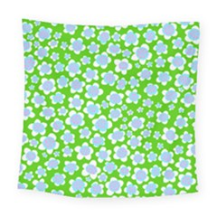 Flower Green Copy Square Tapestry (large) by Jojostore