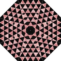 Triangle3 Black Marble & Red & White Marble Folding Umbrella by trendistuff