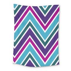 Fetching Chevron White Blue Purple Green Colors Combinations Cream Pink Pretty Peach Gray Glitter Re Medium Tapestry
