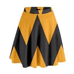 Minimal Modern Simple Orange High Waist Skirt by Jojostore