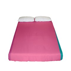 Pink Blue Three Color Fitted Sheet (full/ Double Size) by Jojostore