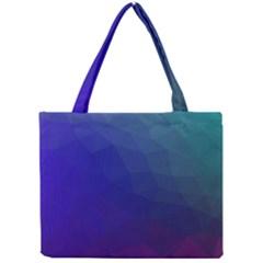 Polyart Dark Blue Purple Pattern Mini Tote Bag by Jojostore