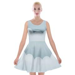 Soft Pure Backgrounds Velvet Skater Dress