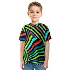 Colorful Cat Kids  Sport Mesh Tee by Jojostore