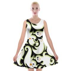 Ghosts Small Phantom Stock Velvet Skater Dress