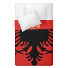 Coat Of Arms Of Albania Duvet Cover Double Side (single Size) by abbeyz71
