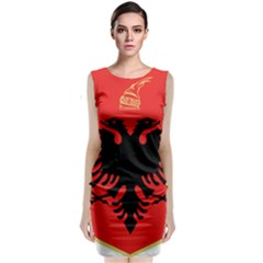 Coat Of Arms Of Albania Classic Sleeveless Midi Dress by abbeyz71
