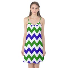 Blue And Green Chevron Camis Nightgown by Jojostore