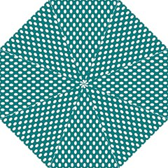 Circular Pattern Blue White Folding Umbrellas by Jojostore
