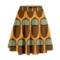Acorn Orang High Waist Skirt by Jojostore