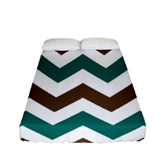 Green Chevron Fitted Sheet (full/ Double Size)