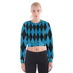 Fabric Background Women s Cropped Sweatshirt by Jojostore