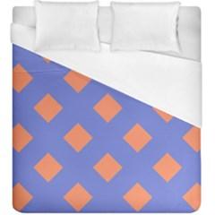 Orange Blue Duvet Cover (king Size) by Jojostore