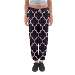 Tile1 Black Marble & Red & White Marble Women s Jogger Sweatpants by trendistuff