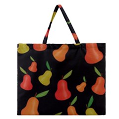 Pears Pattern Zipper Large Tote Bag by Valentinaart