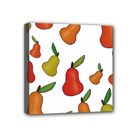 Decorative Pears Pattern Mini Canvas 4  X 4  by Valentinaart