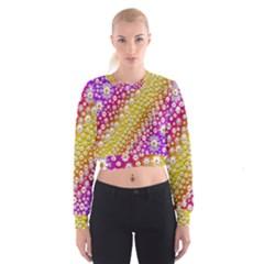 Falling Flowers From Heaven Women s Cropped Sweatshirt by pepitasart