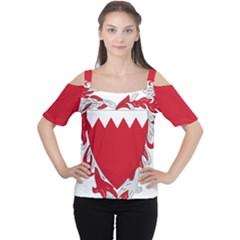 Emblem Of Bahrain Women s Cutout Shoulder Tee by abbeyz71