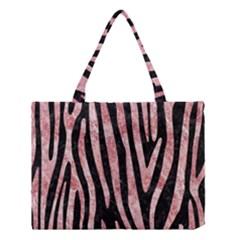 Skin4 Black Marble & Red & White Marble (r) Medium Tote Bag by trendistuff