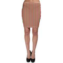 Pattern Background Red White Green Bodycon Skirt