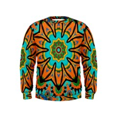 Color Abstract Pattern Structure Kids  Sweatshirt