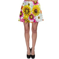 Flowers Blossom Bloom Nature Plant Skater Skirt by Amaryn4rt