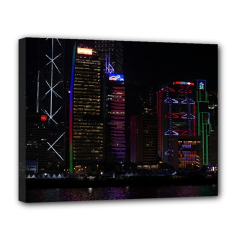 Hong Kong China Asia Skyscraper Canvas 14  X 11  by Amaryn4rt