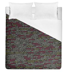 Full Frame Shot Of Abstract Pattern Duvet Cover (queen Size) by Amaryn4rt