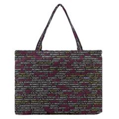 Full Frame Shot Of Abstract Pattern Medium Zipper Tote Bag by Amaryn4rt