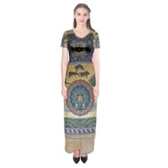 Peace Monument Werder Mountain Short Sleeve Maxi Dress