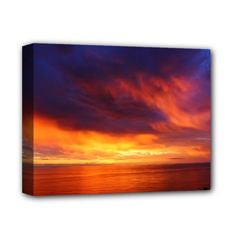 Sunset The Pacific Ocean Evening Deluxe Canvas 14  X 11  by Amaryn4rt