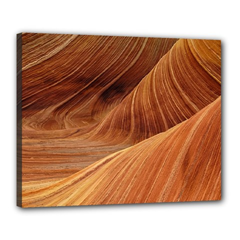 Sandstone The Wave Rock Nature Red Sand Canvas 20  X 16  by Amaryn4rt