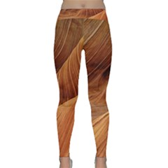Sandstone The Wave Rock Nature Red Sand Classic Yoga Leggings