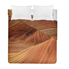 Sandstone The Wave Rock Nature Red Sand Duvet Cover Double Side (full/ Double Size) by Amaryn4rt