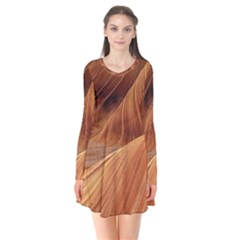 Sandstone The Wave Rock Nature Red Sand Flare Dress