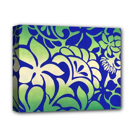 Batik Fabric Flower Deluxe Canvas 14  X 11  by AnjaniArt