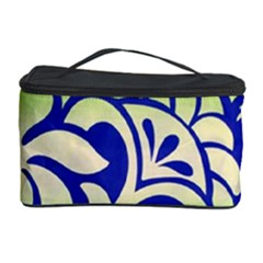Batik Fabric Flower Cosmetic Storage Case by AnjaniArt