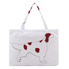 Irish Red White Setter Silo Color Medium Tote Bag by TailWags