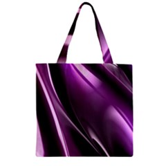 Fractal Mathematics Abstract Zipper Grocery Tote Bag by Amaryn4rt