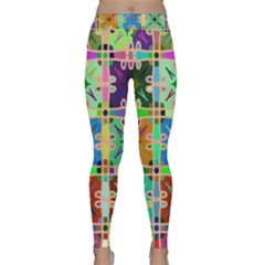 Abstract Pattern Background Design Classic Yoga Leggings