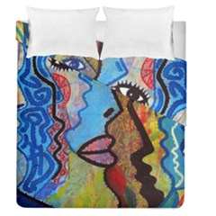Graffiti Wall Color Artistic Duvet Cover Double Side (queen Size) by Amaryn4rt